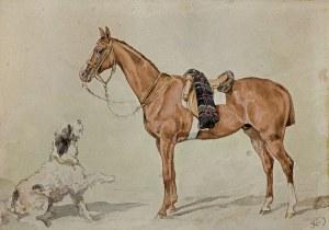 Kossak Juliusz, PRZYJACIELE. KOŃ I PIES, 1860-1870