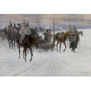 Chełmiński Jan, W ODWROCIE SPOD MOSKWY, 1888-1899