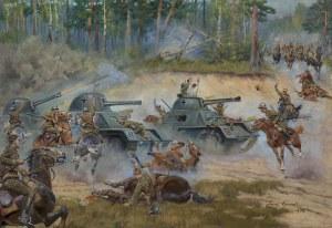 Kossak Jerzy, BITWA POD KUTNEM (BITWA NAD BZURĄ), 1942