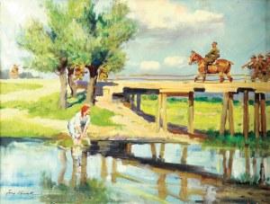 Jerzy KOSSAK (1886-1955), Jadą ułani, 1931