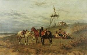 Ludwik GĘDŁEK (1847-1904), Kozacy na czatach