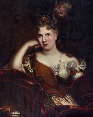 Jean Baptiste JOUVENET (1644-1717) - przypisywany, Portret damy - Diana