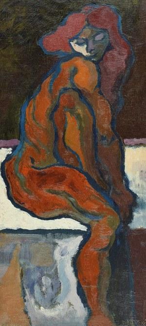 Kazimierz PODSADECKI (1904-1970), Akt siedzącej kobiety, 1966