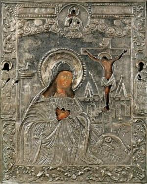 Ikona - Matka Boża Achtyrska, w okładzie