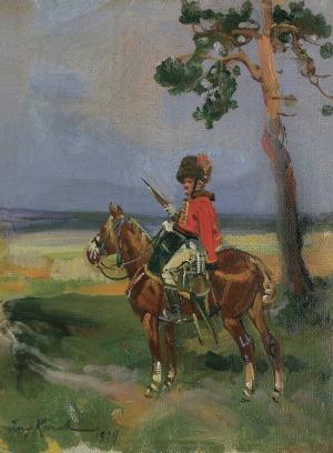 Kossak Jerzy, HUZAR NA PATROLU, 1929