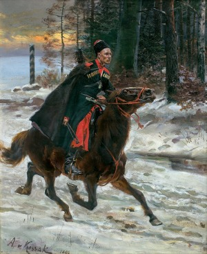 Kossak Wojciech, Z ROZKAZEM NA GRANICY, 1890