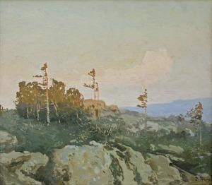 Trusz Iwan, SOSNY O ZACHODZIE SŁOŃCA,1900 - 1910