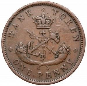 Kanada, 1 pens 1857
