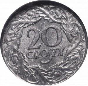 GG, 20 groschen 1923 GCN MS65