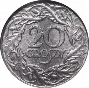 GG, 20 groschen 1923 GCN MS66