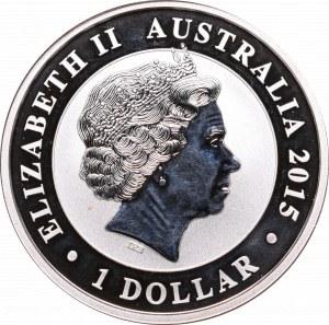 Australia, 1 dolar 2015 Kookaburra