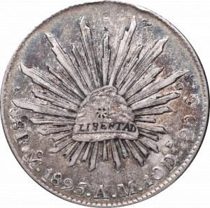 Meksyk, 8 reali 1895, Miasto Meksyk - chop marki