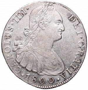 Peru, Karol IV, 8 reali 1800, Lima