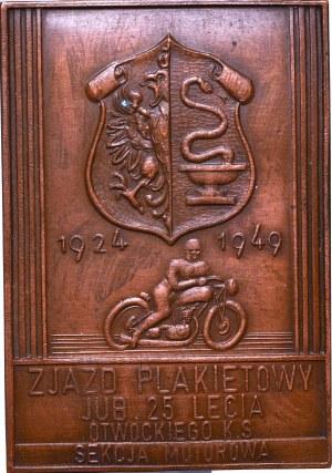 Plakieta, Jubileusz 25 lecia Otwockiego Klubu Sportowego 1949 - A. Tyrała Poznań