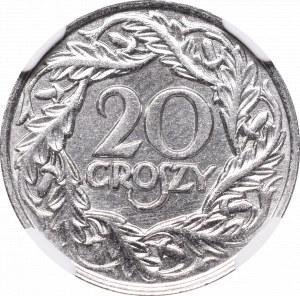 II Republic of Poland, 20 groschen 1923 - NGC MS66