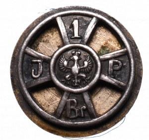 II RP, Miniatura Odznaki 1 Brygada srebro Gajewski