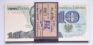 PRL, Baczka bankowa 10 złotych 1982 Bem seria A