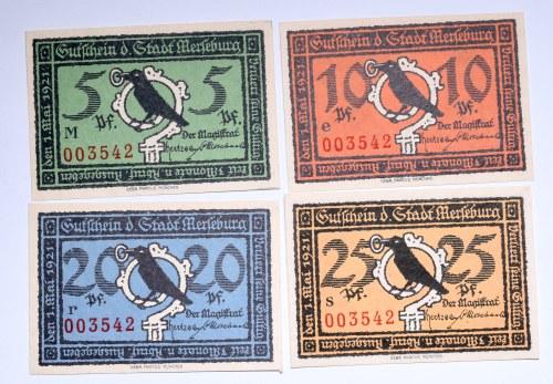 Niemcy, Merseburg, Zestaw 4 notgeldów