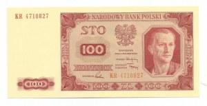 PRL, 100 złotych 1948 seria KR