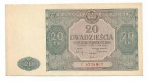 PRL, 20 złotych 1946