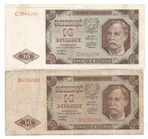 PRL, Zestaw 10 złotych 1948