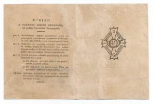II RP, Legitymacja do odznaki 44 Pułk Strzelców Kresowych