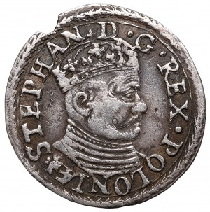 Stephan Bathory, 3 groschen 1581, Olcusia 0 Extremely Rare