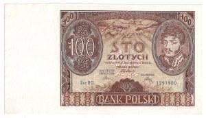 II Rzeczpospolita, 100 złotych 1934 Ser. BO