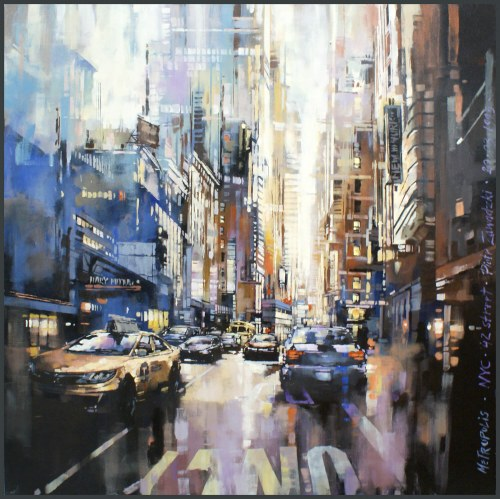 Piotr Zawadzki, Metropolis. NYC 42 Street, 2020