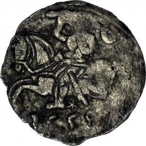 R- Zygmunt II August, Denar 1558, Wilno, R2, T.4mk