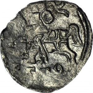 R-, Zygmunt II August, Denar 1559 Wilno, rzadki, R3, T.8mk