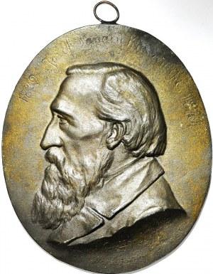 R-, Plakieta 1879, J. Kraszewski, autorstwa Teofila Godeckiego