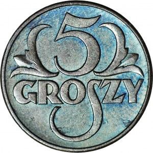 5 groszy 1937, mennicze,