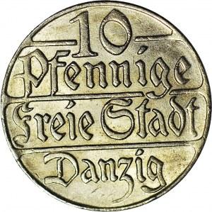 Wolne Miasto Gdańsk, 10 fenigów 1923, mennicze