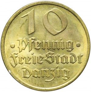 Wolne Miasto Gdańsk, 10 fenigów 1932, Dorsz, mennicze