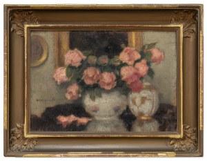 Karpiński Alfons (1875-1961), Róże w wazonie, lata 20. XX w.