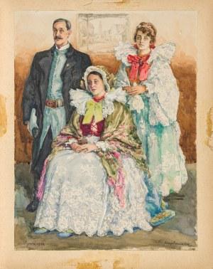 Pieniążek Józef (1888-1953), Rodzina mieszczańska z Żywca,1932