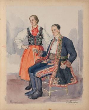 Pieniążek Józef (1888-1953), Para z Przyszowej, 1933