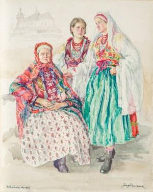Pieniążek Józef (1888-1953), Trzy kobiety z Wilamowic, 1934