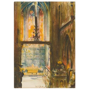 Grott Teodor (1884–1972), Wnętrze Koœcioła Mariackiego, 1911