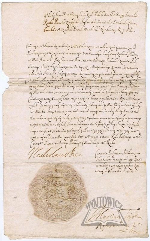 WŁADYSŁAW IV Waza (1595 - 1648), król Polski.