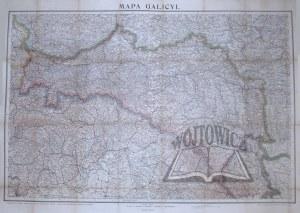 (GALICJA). Mapa Galicyi.