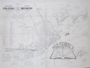 (WARSZAWA). Plan Miasta Warszawy i okolic.