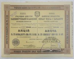 (AKCJE) GRODZIECKIE Towarzystwo Kopalń Węgla i Zakładów Przemysłowych.