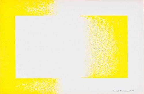 Richard Anuszkiewicz (ur. 1930) Żółty odwrócony, z teki Art in America Graphics 70, 1970