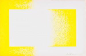 Richard Anuszkiewicz (ur. 1930) Żółty odwrócony, z teki