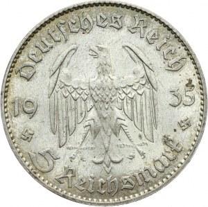 Niemcy, III Rzesza 1933-1945, 5 MAREK 1935 J, Hamburg, KOŚCIÓŁ GARNIZONOWY