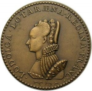 Henryk III Walezy i Ludwika Lotaryńska, XIX wieczny medal wzorowany na medalach z epoki