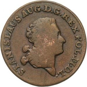 Polska, Stanisław August Poniatowski 1764-1795, trojak 1787 E.B., Warszawa.