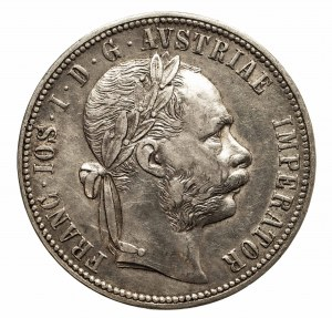 Austria, Franciszek Józef I (1848–1916), 1 floren 1879, Wiedeń